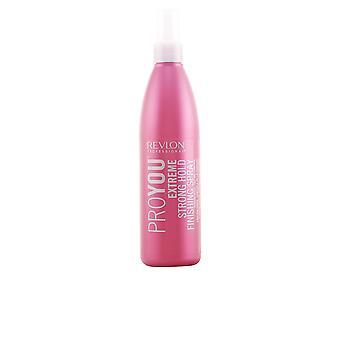 Revlon Proyou ekstrem stærk Hold efterbehandling Spray 350 Ml Unisex
