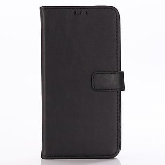 LG G8 ThinQ Retro Brieftasche Fall-Schwarz
