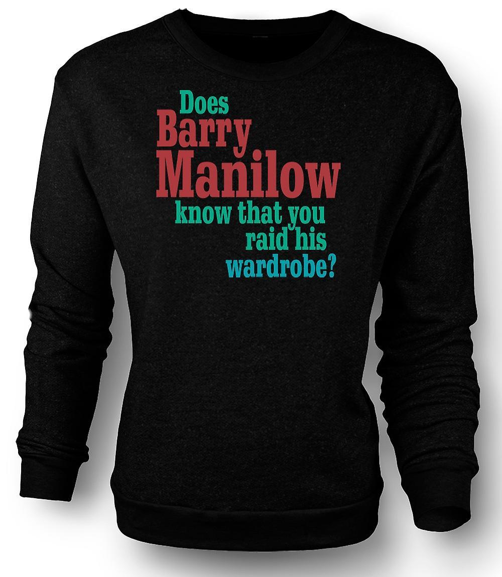 Kinder Sweatshirt Hat Barry Manilow Wissen Zitat Lustig