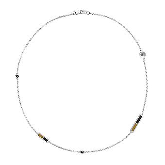 Wake Forest University Black Onyx Chain Necklace In Sterling Silver Design by BIXLER