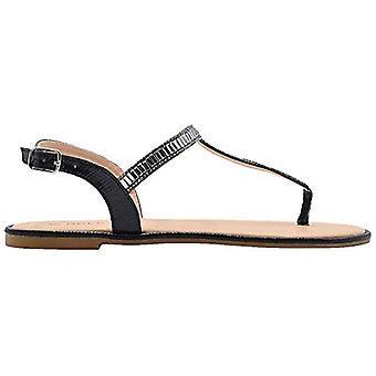 Kulta toe hyvät muoti sandaalit metallinen Thong slingback Summer Flats