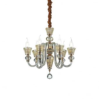 Ideal Lux Strauss 6 Bulb Pendant Light