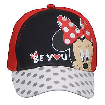 Baseball Cap - Disney - Minnie Mouse Polka Dots 3D Bow Girls New 377349