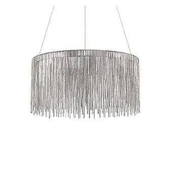 LED plafonnier suspension chrome
