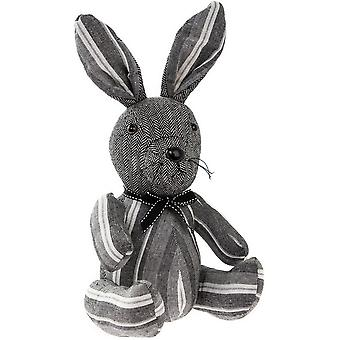 Striped Fabric Rabbit Doorstop