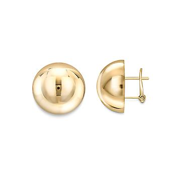 Jewelco London 18ct Gold Polished Dome Stud Earrings 19mm