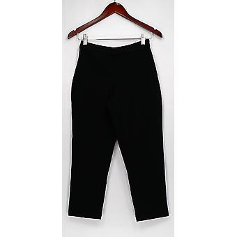 Joan Rivers Classics Collection Petite Pants XSP Signature Ankle Black A310588