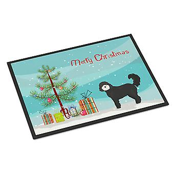 Black Cockapoo Christmas Tree Indoor or Outdoor Mat 24x36