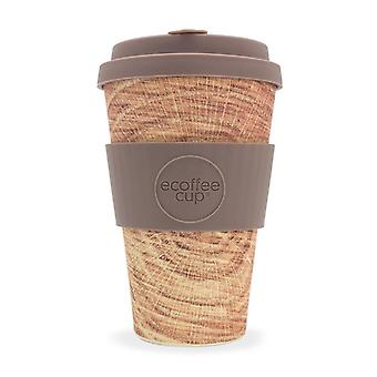 Ecoffee Eco-Friendly 14oz 400ml Stein & Holz Reusable Bamboo Tea & Coffee Cups With Silicone Lid Top For Travel & Home - Various Colours