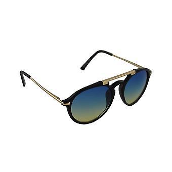 Óculos de Sol Oval Feminino - Preto/Blauw1709_1
