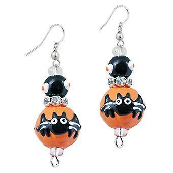 Gone Batty Happy Halloween Rhinestone Glass Beaded Kate and Macy Earrings