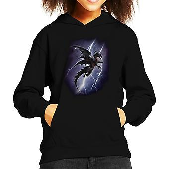 Alchemy Lightning Dragon Kid's Hooded Sweatshirt