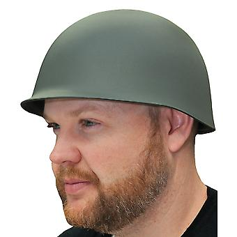 Army Soldier Military Wartime Green Mens Costume Deluxe Thick Hat Helmet