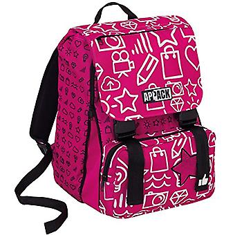 SCHOOL backpack APPACK MICRO MACRO - Pink 31Lt