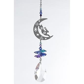 Hare and Moon Crystal Fantasy Rainbow Maker 24cm