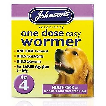 Johnsons 1 Dose Wormer Tablets For Large Dogs (3 Packs)
