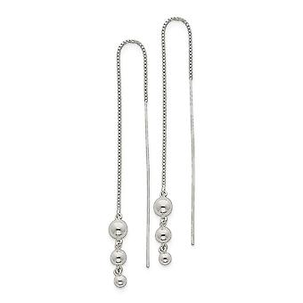 925 Sterling Silver Polished Spiral Bar Threader Earrings Measures 53x1mm Wide Jewelry Gifts for Women