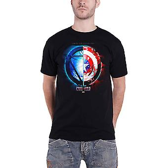 Captain America T Shirt Civil War Whose Side are you on Official Marvel