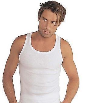 Jockey klassisk bomuld rib-A-skjorte (trapezformet skjorte) ribbede hvid 1040 0511