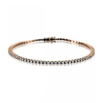 Diamant armbånd armbånd-18K 750 rødt guld-3,38 CT.