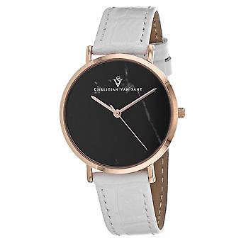 Christian Van Sant Women's Lotus Black Dial Watch - CV0423