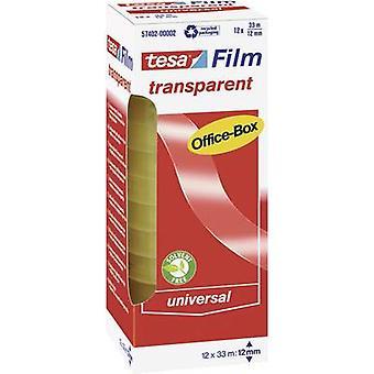 tesa 57402-00002-00 57402-00002-00 Tesa film tesafilm® Transparent (L x W) 33 m x 12 mm 12 stk.