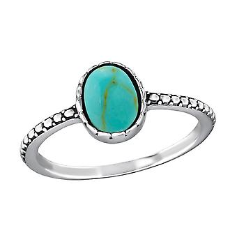 Oval - 925 Sterling Silver Jewelled Rings - W39078x