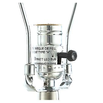 """15"""" X 15"""" X 32"""" Brushed Nickel Metal Glass LED Shade Lámpara de Mesa"""