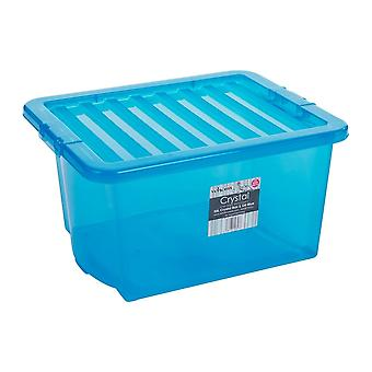 Wham Storage Pallet Deal X 100 Boxes - 35 Litre Crystal Storage Boxes And Lids