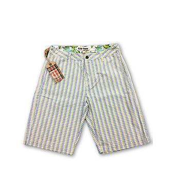 Tailor Vintage shorts in green/yellow graph check
