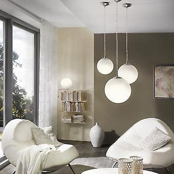 Eglo Rondo Opal pequeño cristal blanco globo colgante luz
