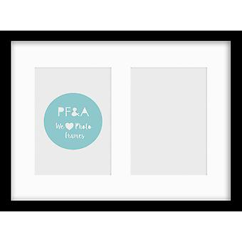 Oxford Black Multi Aperture Photo Frame Instagram Wall Mounted Picture Collage