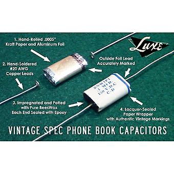 Luxe 1958-1961 Telecaster: Wax Impregnated Paper & Foil .1mf & .05mf Capacitors