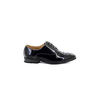 Goor Mens Pleated Cap Oxford Tie Patent Shoes