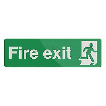 Fire exit teken-400x125mm PL