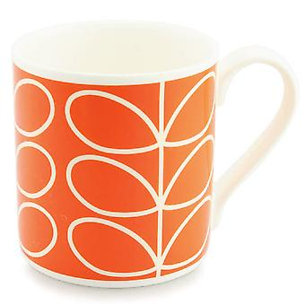 Orla Kiely tige linéaire grand Mug Orange