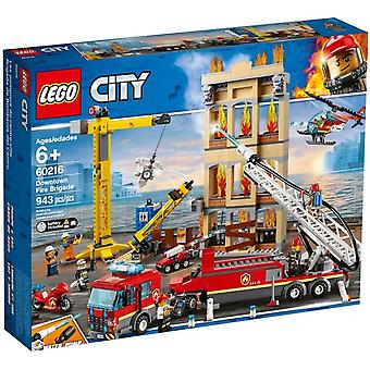LEGO 60216 Fire Station in the city