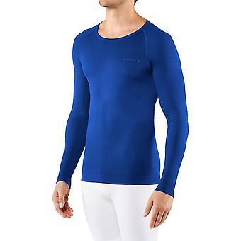Falke Langarm Figur Hugging Shirt - Kobaltblau