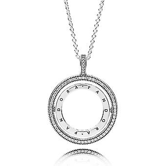 Necklace and pendant 397410CZ - necklace hearts forklifts woman Pandora