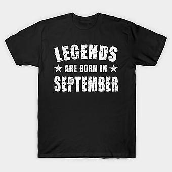 Légendes naissent en septembre la moitié manches t-shirt