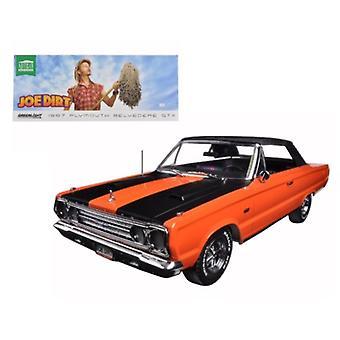 1967 Plymouth Belvedere Gtx Convertible Orange \Joe Dirt\ Movie (2001) 1/18 Diecast Car Model By Greenlight