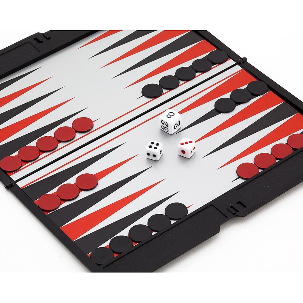 Magnetic Slimline Travel Backgammon set