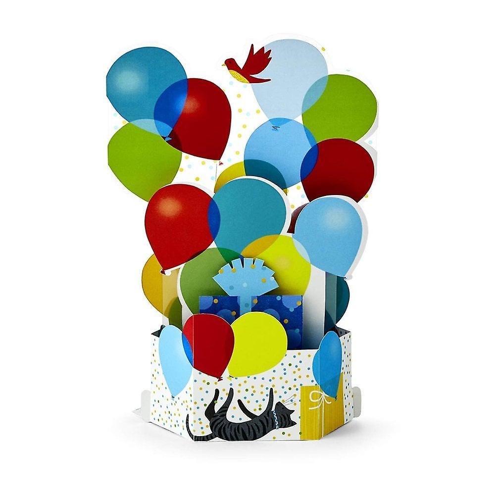 Hallmark Paper Wonder Birthday Balloons 3d Pop Up Card 25522165