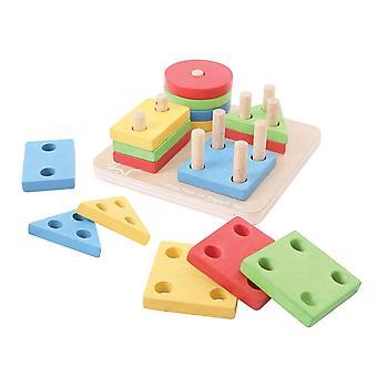Bigjigs hračky první čtyři třídění tvarů