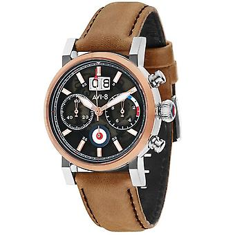 Hawker hurricane av-4062-02 Japanese Quartz Analog Man Watch with AV-4062-02 Cowskin Bracelet