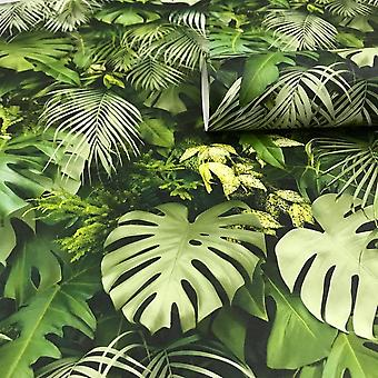 A.S. Creație ca Crearea 3D Efect Tropical Tree Palm Leaf Wallpaper Roll vinil verde 37280-2