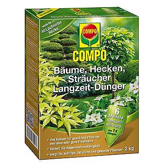 COMPOの木、生け垣、低木長期肥料、2キロ
