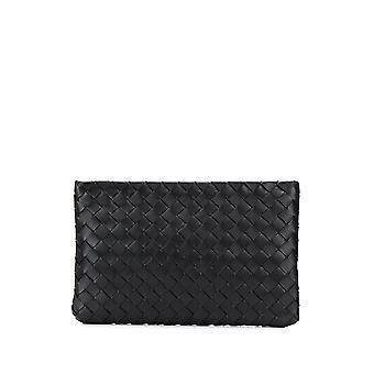 Bottega Veneta 608232vcpp28803 Women's Black Leather Clutch