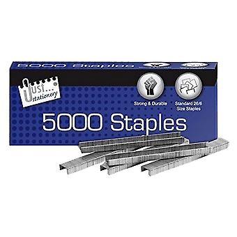 Just Stationery Size No 26/6 Staples (Pack Of 5000)