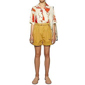 Acne Studios Ae0016ae4 Women's Bege Cotton Shorts